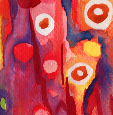 Abstract red, dark blue, yellow watercolor and old background  photo