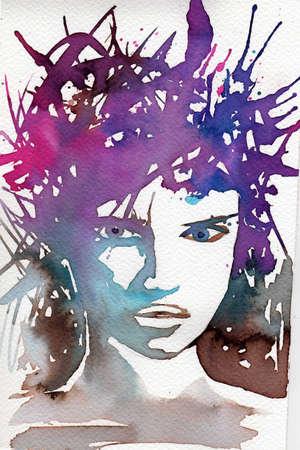 blissful: riginal watercolor illustration