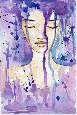 abstract portrait:  fabulous illustration of an abstract portrait of a girl.