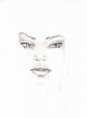 pencil sketch, portrait of a woman