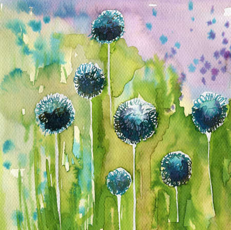 brisk: blue flowers Stock Photo