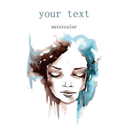 water color: vector illustration watercolor