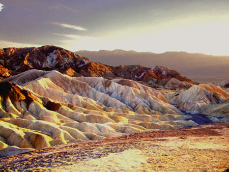 death valley: The colors of the sunset in Death Valley