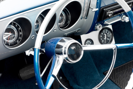 Close-up of details of vintage American Cars photo