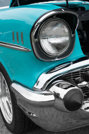 car grill: Close-up of details of vintage American Cars