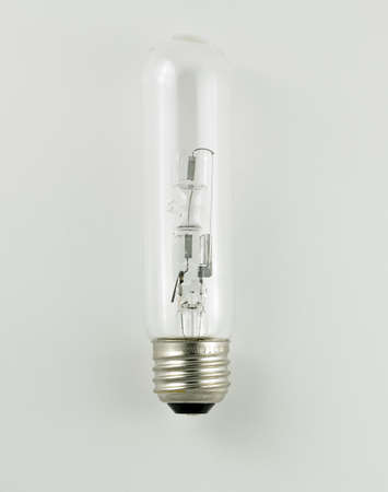 halogen light bulb isolated on a white background Banco de Imagens