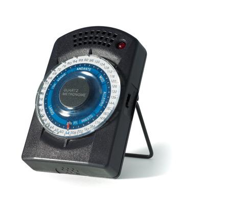 metronome isolated on a white background Stockfoto