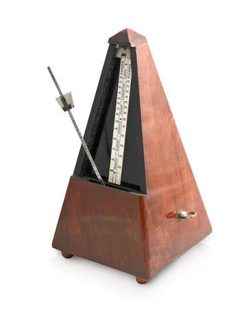 metronome: metronome isolated on a white background Stock Photo