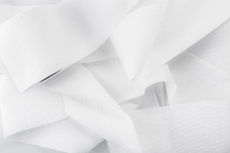 roll of toilet paper isolated on a white background photo