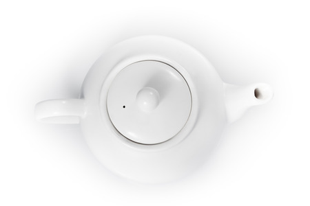 top view teapot isolated on a white background 版權商用圖片