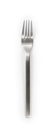 stainless steel fork isolated on a white background Stock fotó