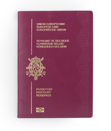 belgian passport isolated on a white background
