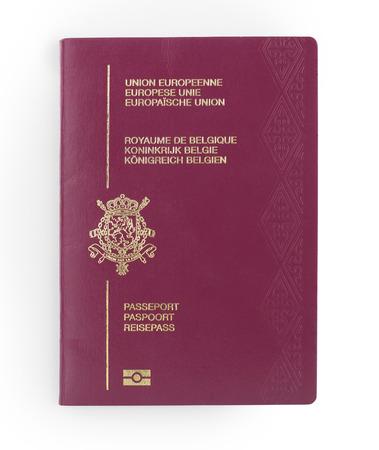 Passeport belge isolé sur un fond blanc Banque d'images - 22894844