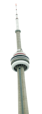 cn tower isolated on a white background photo