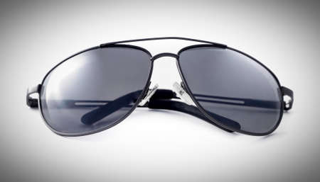 aviator sunglasses isolated on a white background Stock Photo