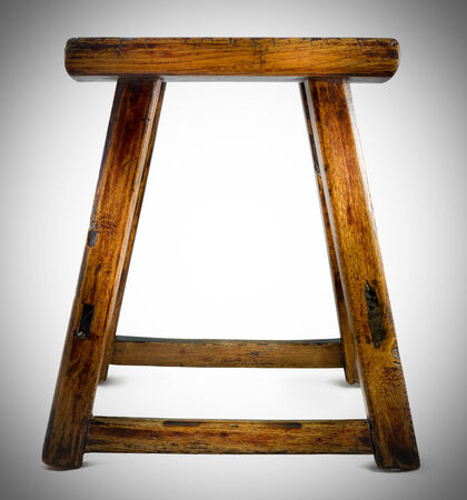 antique asian: antique asian stool isolated on a white background