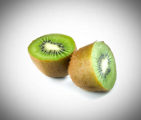 half kiwi isolated on a white background