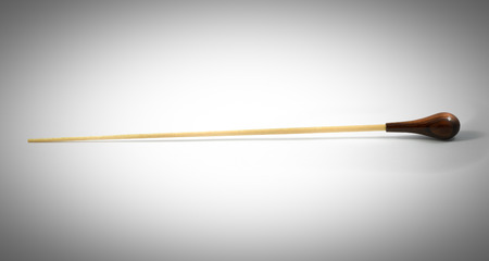conductors baton isolated on a white background Stock Photo
