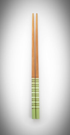 top view chopsticks isolated on a white background Imagens
