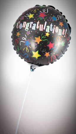 congratulations balloon isolated on a white background
