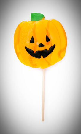 halloween lollipop isolated on a white background