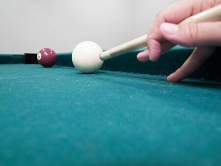 Gros plan de snooker prise de son tir Banque d'images