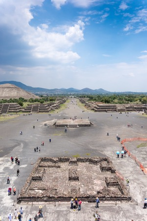 High angle view of an archaeological site, Teotihuacan, Mexico City, Mexico photo