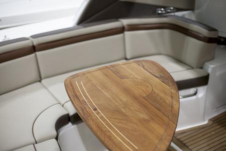 Interiors of a speedboat