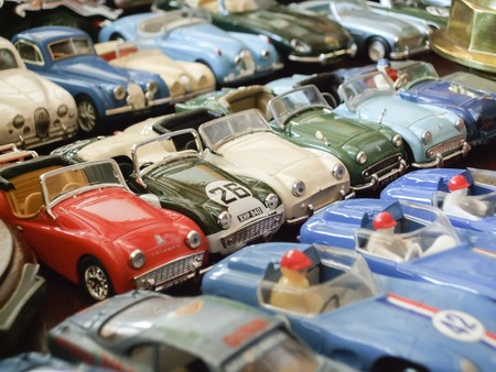 Assorted toy cars at a store photo