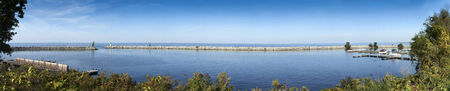 lawrence: Panoramic view of harbor, River St Lawrence, Ontario, Canada