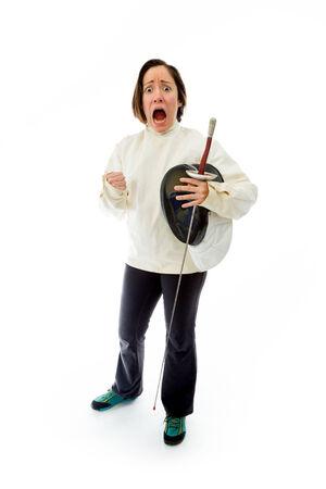 esgrimista: Esgrimista Mujer busca miedo
