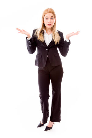 Businesswoman looking shocked photo