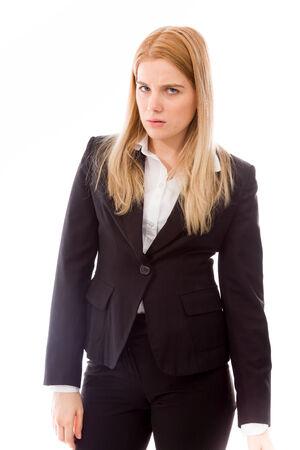 allegation: Portrait of a serious businesswoman