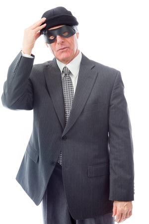 Businessman wearing eye mask photo