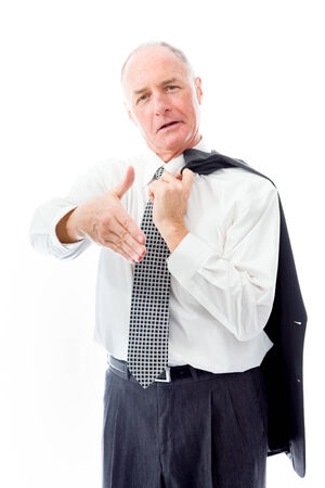 Businessman offering hand for handshake photo