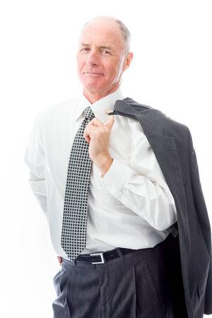 Portrait of a businessman smiling photo