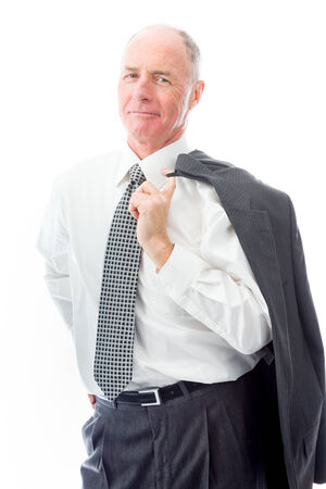 Portrait of a businessman smiling photo