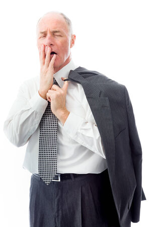 Businessman looking shocked photo