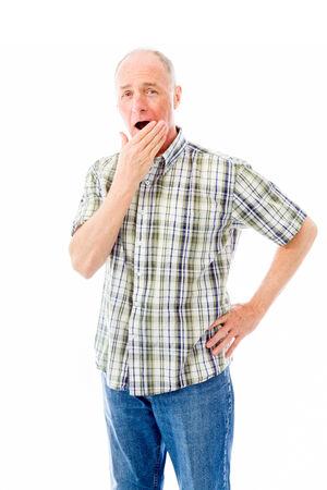 Senior man looking shocked photo