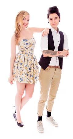 off shoulder: Lesbian couple standing together