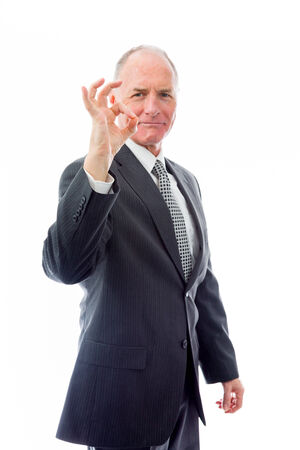 Businessman showing ok sign photo