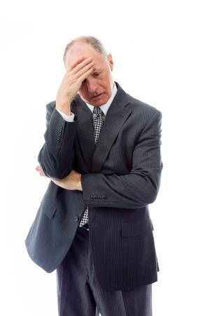 頭痛に苦しんでの実業家