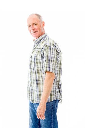 Portrait of a senior man smiling photo