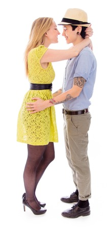 Lesbian couple embracing photo