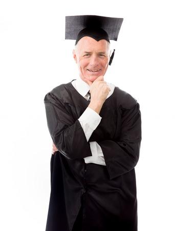 Portrait of a senior male graduate smiling photo