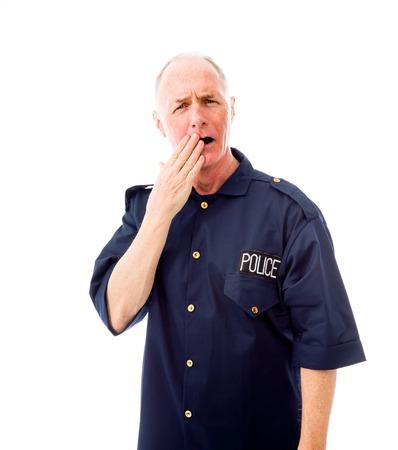 Policeman looking shocked photo