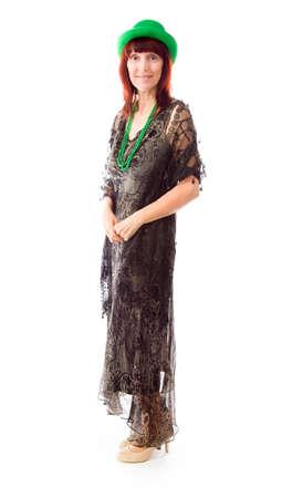Mature woman standing photo