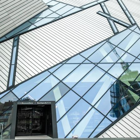 Crystal shaped building in a museum, Michael Lee-Chin Crystal, Royal Ontario Museum, Toronto, Ontario, Canada 2005-01-20 4:49:36 AM Sajtókép