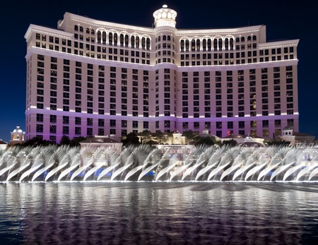 bellagio: Fountains of Bellagio, Bellagio Hotel, Las Vegas, Naveda, USA 2010-02-14 6:02:14 PM Editorial