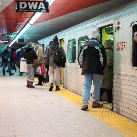 Passengers entering in a subway train, Toronto, Ontario, Canada 2005-01-28 12:17:59 PM
